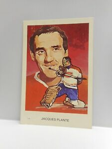 Vintage - JACQUES PLANTE - HOCKEY HALL OF FAME INDUCTION SOUVENIR POSTCARD 1983