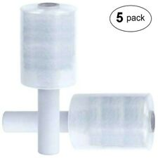 Lot 5 Mini Rouleau Bobine Film étirable Transparent 150m x 100mm pour emballage