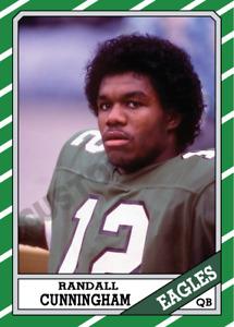 1986 Randall Cunningham Custom Football Rookie Card