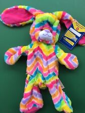 "Build a Bear 16"" Retired Zig Zag Stripes-A-Lot Bunny Plush Toy - Unstuffed"