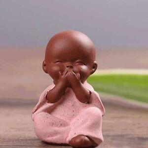 Monk Statue Ceramic Ornament India Yoga Buddha Craft Decorative