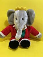 """Vintage GUND BABAR the Elephant Red Green Suit Plush 1988 14"""" Tall"""