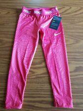 NWT $30 Girls Nike Dri-Fit Leggings Racer Pink Athletic Leggings 36C351-A4F Sz 6
