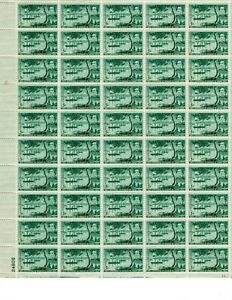 1853-1953 CENTENNIAL PERRY OPENING OF JAPAN ,  50-5 cent SHEET OF U. S.  STAMPS