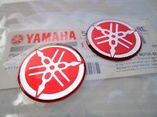 2 x Yamaha GENUINE Tuning Fork Stickers Decals 40mm FZ FJ YZF RD YZ R1 R6 FZR