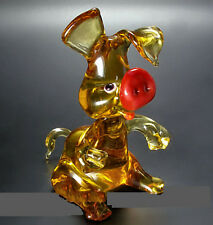 Art Blown Glass Murano Figurine Glass figurine pig