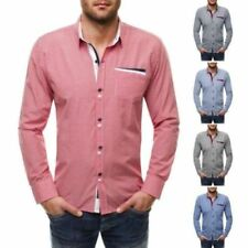 Camisas casuales de hombre de manga larga 100% algodón
