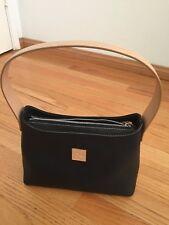 Dooney Burke top zip shoulder bag --black