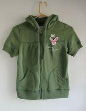 AMERICAN EAGLE Sz S Zip Up Pullover Olive Green Short Sleeve Sweatshirt Hoodie