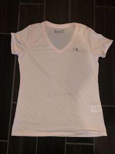 Women's Pink Under Armour V-neck shirt- size M