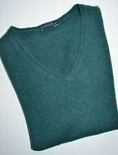 Darling pure cashmere women jumper in green color, size M, UK size 12, VGC