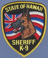 STATE OF HAWAII SHERIFF K-9 UNIT SHOULDER PATCH