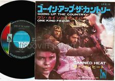 "CANNED HEAT Going Up The Country JAPAN 7"" RECORD LR-2170 w/fold-out P/S Free S&H"