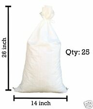 "Sandbags - 25 White 14"" x 26"" -Sandbag Sand Bags Bag Poly by Sandbaggy"