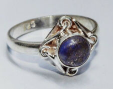 Sterling Silver Traditional Asian Vintage Style Lapis Stone Ring Size M 1/2 Gift