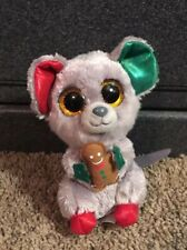 """Ty Beanie Boos Gray MAC the Holiday Mouse 6"""" Stuffed Plush"""