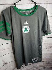 Boston Celtics Shirt Rondo 9 Logo Embroidered Adidas Gray Green Stripes #600129