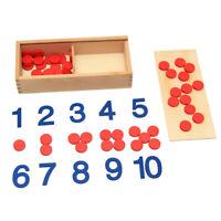 Kinder Montessori Karten Counter Math Homeschool lernen Lernspielzeug Geschenke