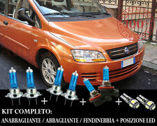 FIAT MULTIPLA 1999-2010 SET COMPLETO LAMPADE BLU XENON + POSIZIONE A LED