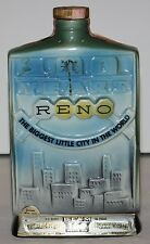 RENO The Biggest Little City 100 Years Jim Beam Distilling Co. Decanter 1968