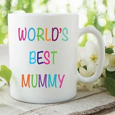 World's Mejor Mummy Taza Niñas De Las Madres Día Regalo Oficina Trabajo Tapadera