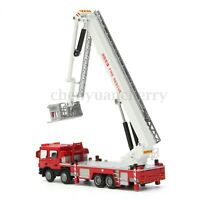 1:50 Diecast Aerial Fire Truck Construction Vehicle Cars Model Scale