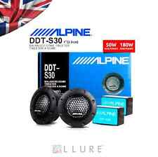 "Nouvelle Alpine ddt-s30 25mm 1 ""soft dome tweeters voiture équilibrée 360W & crossovers UK"