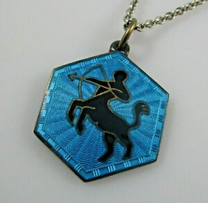 David Andersen Enamel Sterling Silver Necklace Norway 6.9 Grams