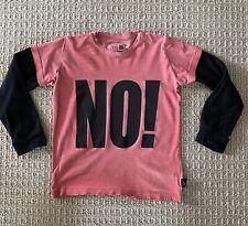 Nununu World Kids Boys No! Long Sleeve T-shirt In Red 6-7T