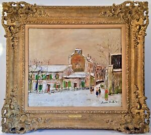 Listed French Artist Maurice Utrillo (1883-1955) Signed Oil On Canvas Provenance