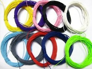 100 Meters Waxed Polyester Twisted Cord 1mm Macrame String Linen Thread 10 Color