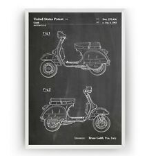 Vespa Scooter 1983 Patent Print - Moped Decor Poster Art Mod Gift - Unframed
