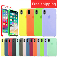 For Phone 6 6s 7 8 Plus X XS MAX XR Genuine Original Hard Silicone Case Cover