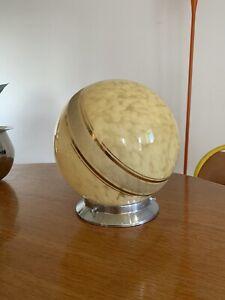 Plafonnier Art Deco / Lampe Boule Verre de Clichy / TBE 22cm