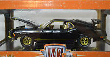 1970  Ford Mustang Chase  Mach 1 428  Black w/Gold Trim 1/24 scale M2 500 PIECES