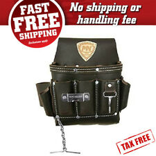 Tool Pouch Leather Pocket Belt Holder Bag Electrician Contractor Construction