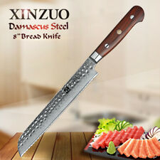 """XINZUO 8"""" damascus bread knife stainless steel serrated cake knife slicing knive"""