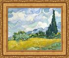 """Vincent van Gogh Wheat Field with Cypresses Framed Canvas 27""""x22.5"""" (V06-47)"""