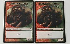 2x giant warrior token Shadowmoor MTG