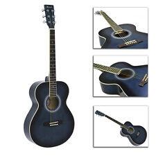 Western-Gitarre Dimavery AW-303 blueburst 4/4 inkl. Tasche Stimmgerät Metronom