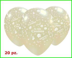 20 palloncini LA MIA CRESIMA lattice 30 cm festa decorazione palloni perlati