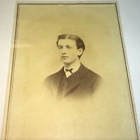 Rare Antique Victorian American ID'd Gent, Theodore Moe! Elmira NY CDV Photo! US
