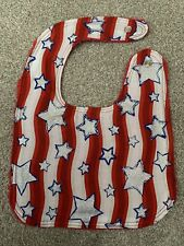 Handmade 4th of July Independence Day Baby Bib