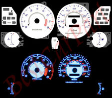 BLUE 95-00 Dodge Avenger 2.0L WHITE FACE REVERSE INDIGLO GLOW GAUGES