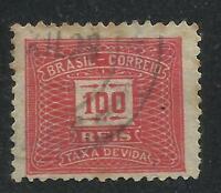 BRAZIL Yvert # TAXE 44 a B, Used, VF
