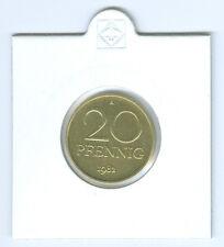 DDR 20 Pfennig Fior di Conio / Export (Selezionare tra: 1979 - 1990)