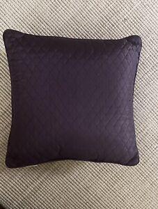 """New Croscill Amethyst Chambord Cassis Decorative 18"""" Square Pillow Purple"""