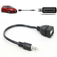 3.5mm Male Plug Jack To USB 2.0 Female Car Stereo Audio Adapter Converter CabVHQ