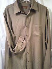100% Silk Long Sleeve Men's Shirt By Tasso Elba Large