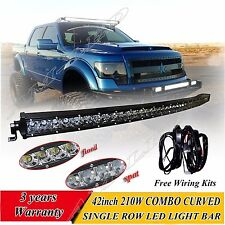 210W 42 inch LED Work Light Bar Combo Curved Offroad For Truck Boat SUV CREE 44